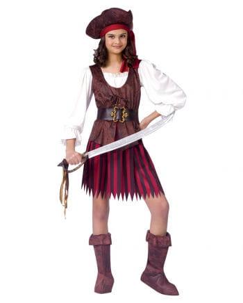 Piratin Kinder Kostüm S