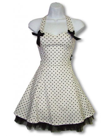 Polka dot dress and white S / 36