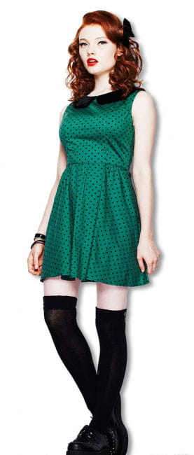 Polka Dot Dress Green