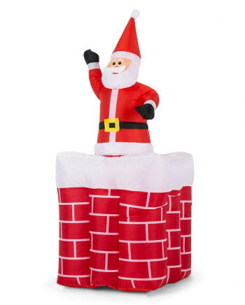 Weihnachtsmann im Kamin aufblasbar 180cm