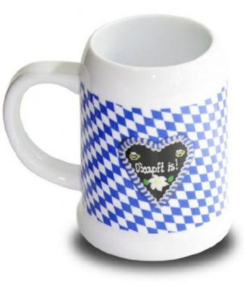 Porcelain beer mug O`zapft is