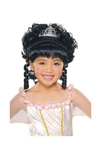 Prinzessin Kinderperücke schwarz