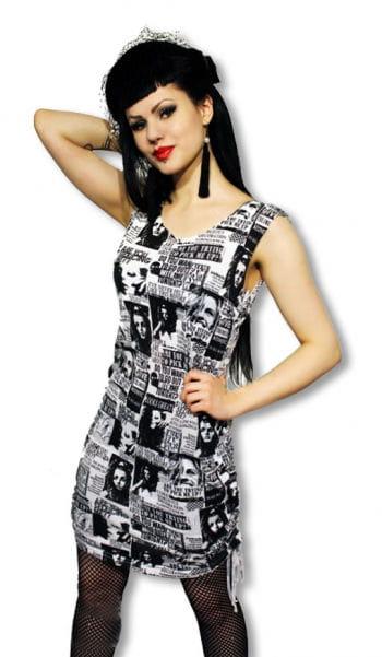 Punk Kleid im Zeitunsdesign M M / 38