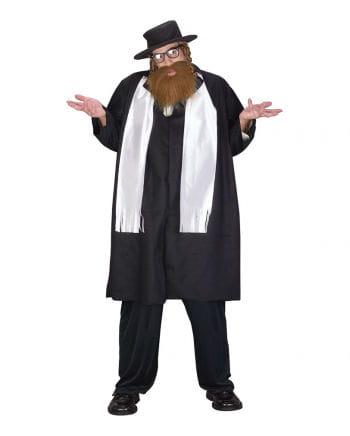 Rabbiner Kostüm mit Bart XL