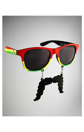 Rasta glasses with beard