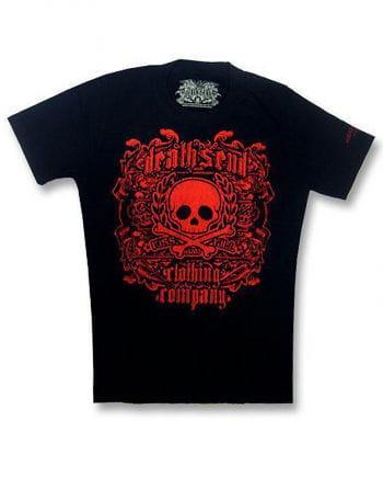 Red Skull and Bones T Shirt L