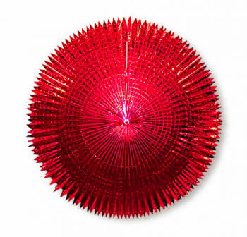 Folienfächer m. Spitzschnitt 120cm rot