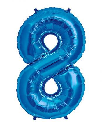 Foil Balloon Number 8 Blue