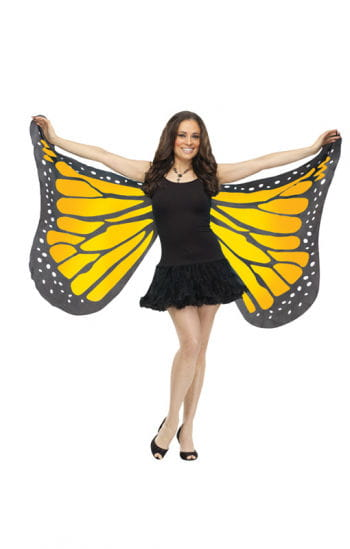 Huge butterfly wings yellow