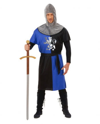 Knight costume blue / black Gr. L