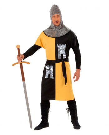 Knight Costume Black/Yellow Size S