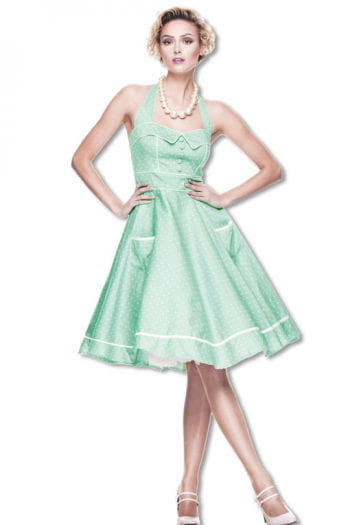 Rockabilly Petticoat Kleid Mint