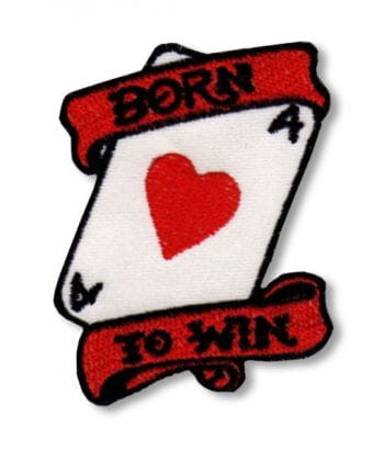 Rockabilly Patch Born to Win