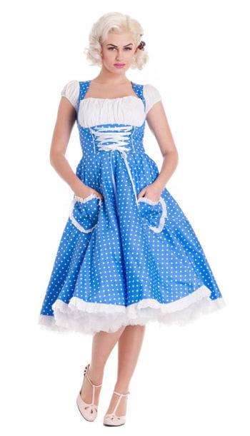 Petticoat Dirndl Kleid blau