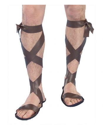 Römer Sandalen mit Schnürung braun