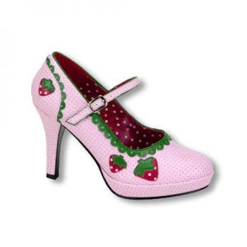 Rosa Erdbeer Schuhe