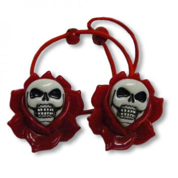 Roses scrunchy red