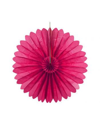Rosettenfächer pink 35 cm