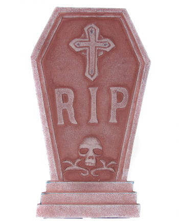 Grave stone with a cross and skull