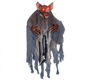 Redhead vampire bat with LED eyes