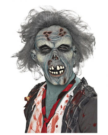 Rotted Zombie Mask with Hair