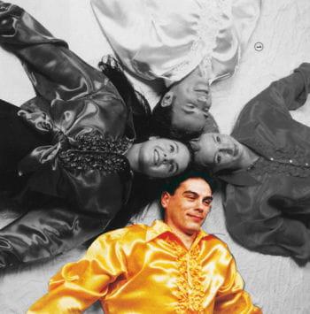 Rüschenhemd gelb XXL