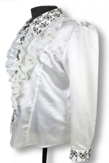 Elegant ruffled shirt White M