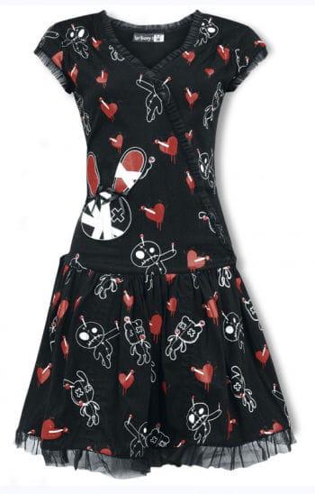 Luv Bunny Ruffle Dress with Print
