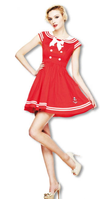 Sailor Mini Dress Red
