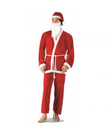 Santa costume with a beard