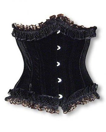 Satin underbust corset with lace S