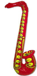 Inflatable Saxophone Red