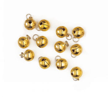 Stitch-On Round Bells 19 mm 12PCS