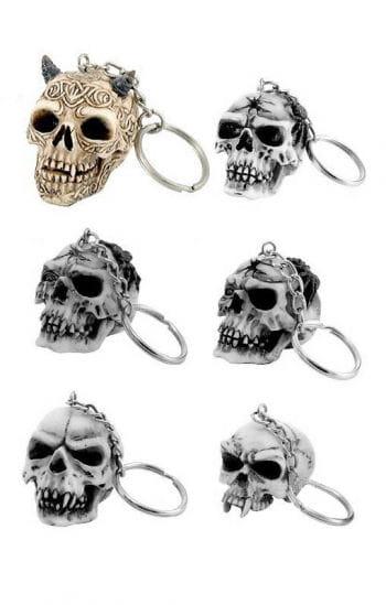 Schlüssel Anhänger keltischer Totenkopf