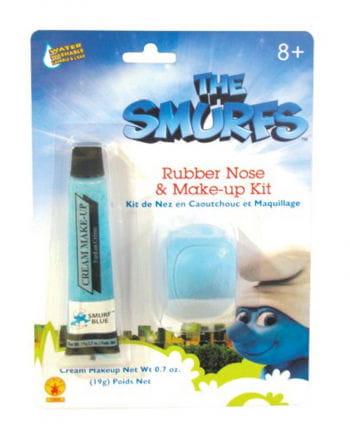 Smurf Makeup Set with nose