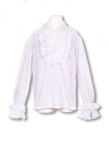 Baroque white ruffled shirt S