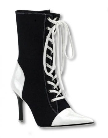 Lace up black and white