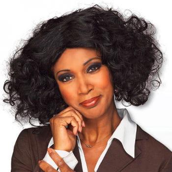 Schwarze Perücke Whitney