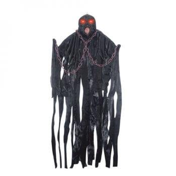 schwarzer sich schüttelnder Kettengeist Animatronic