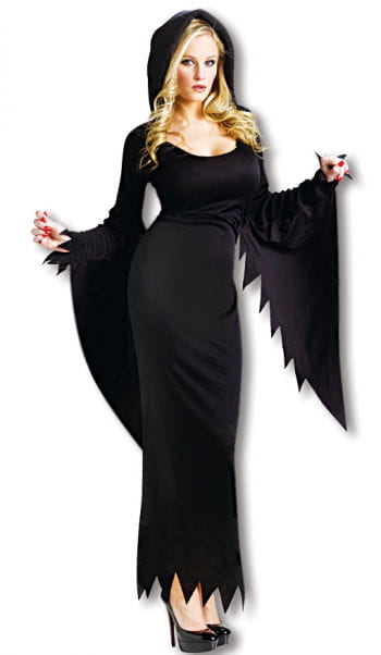 Black costume dress with hood XS/S 34-36