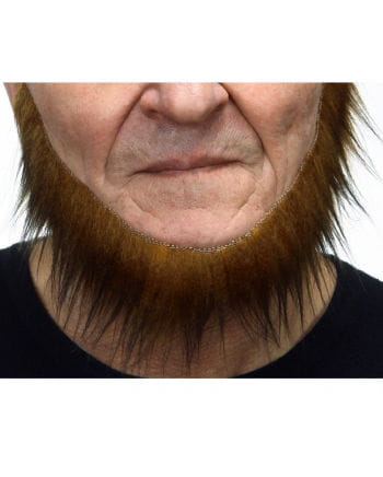 Adhesive sailor beard mottled brown-black
