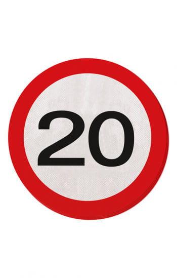 Paper napkin traffic sign 20