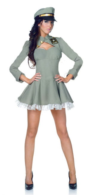 Sexy Army Girl Premium Costume XL