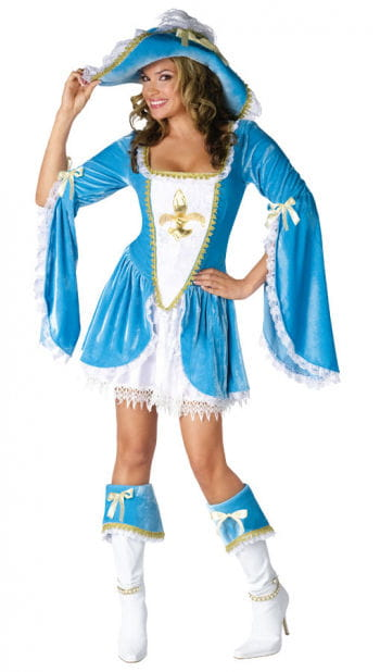 Sexy Musketeer Costume Turquoise Medium Large