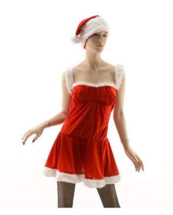 Sexy Santa Kostüm mit Mütze