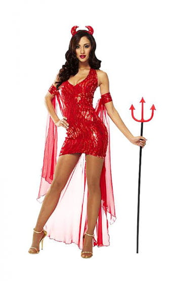 Sexy Devil Queen Costume M / 38