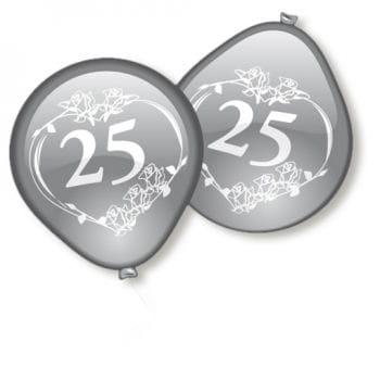 Silver Wedding Balloons 10 PCS