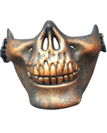 Bronze Skull Half Mask