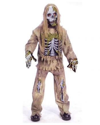 Skeleton Zombie Deluxe Kinderkostüm L