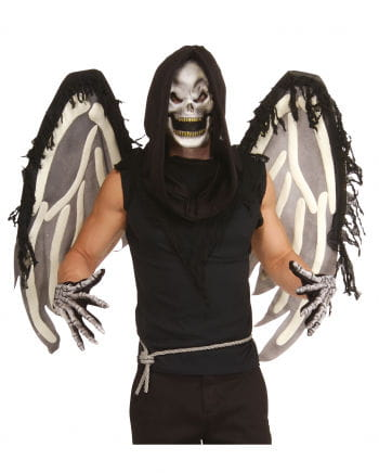 Skelett Set mit Maske & Flügel 4tlg.